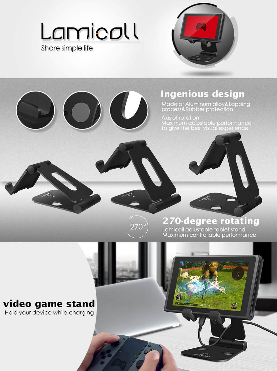 Nintendo Switch Tablet Stand T 8