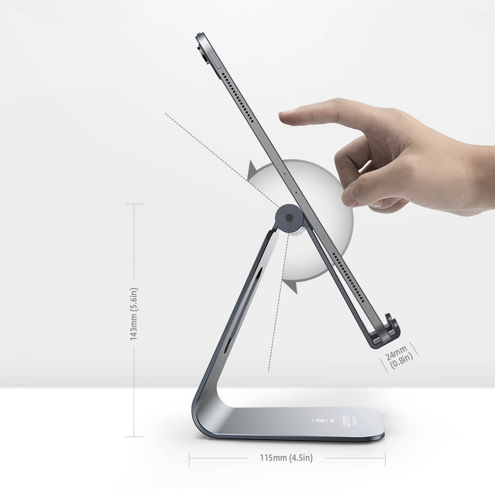 Adjustable Tablet Stand A1 grey