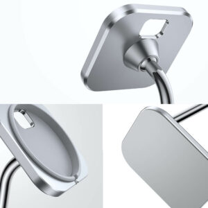 Adjustable Phone Stand for MagSafe Charger DP09 Silver