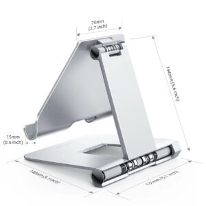 lamicall foldable tablet stand DT02 silver-5