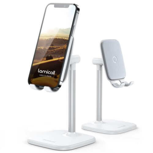 adjustable cell phone stand for desk dp02 white