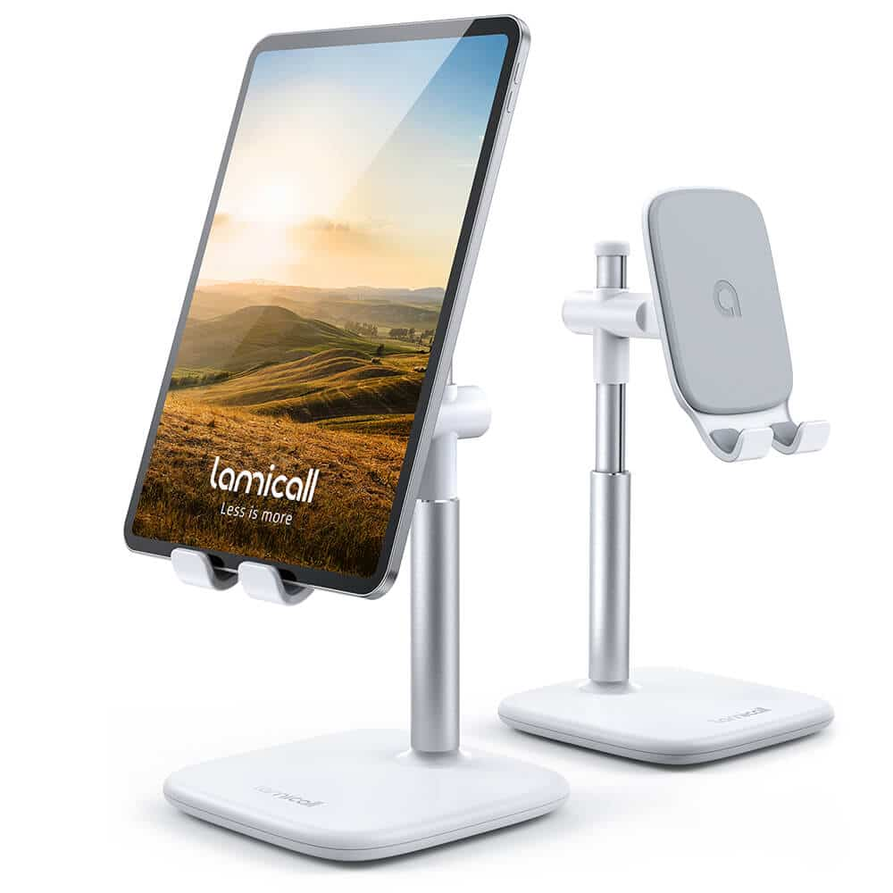 height adjustable tablet stand dt04 white-1